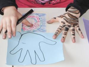 contorno della mano